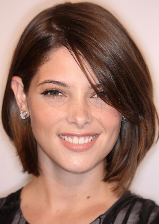 Brunette Bob with Side Bangs