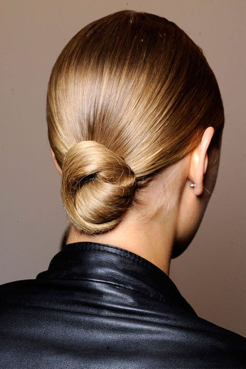 Low Chignon Bun Hairstyle