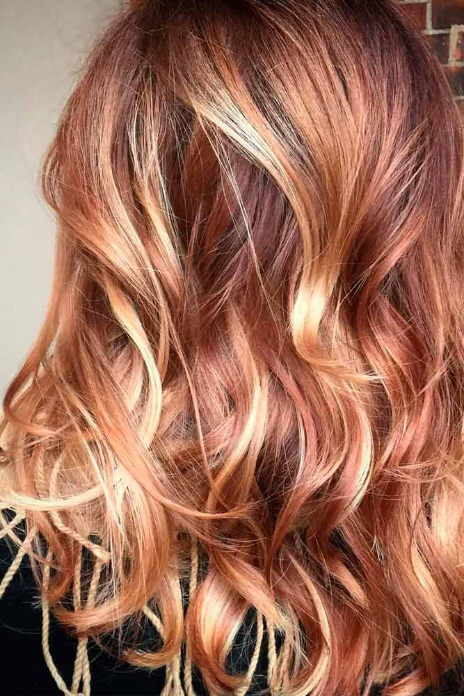Dark Blonde Hair with Caramel Highlights