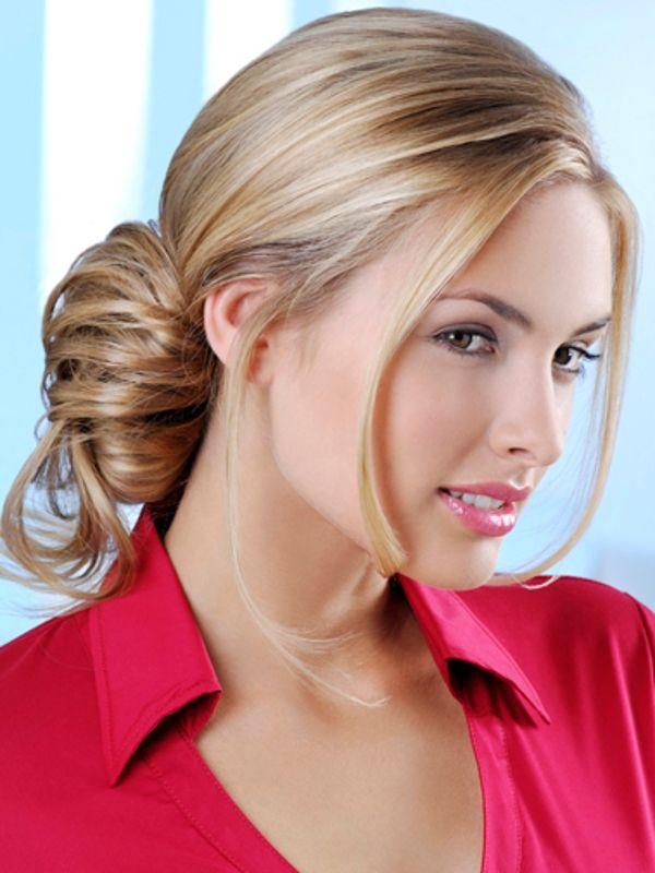 Layered Low Bun Updo Hairstyle