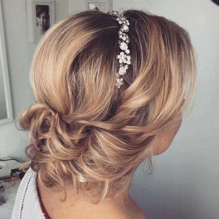 Medium Blonde Updo Hairstyle