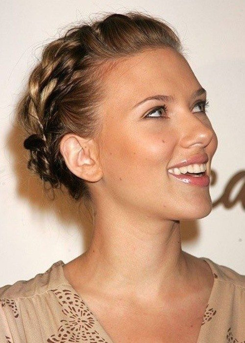 Milkmaid Braid Updo for Short Hair