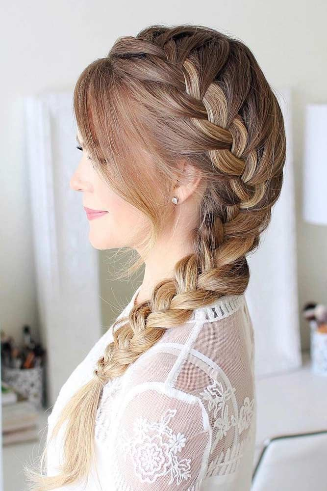 Side French Braided Hairstyle
