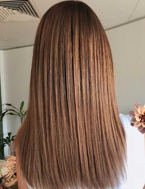 Light Brown Long Straight Hair