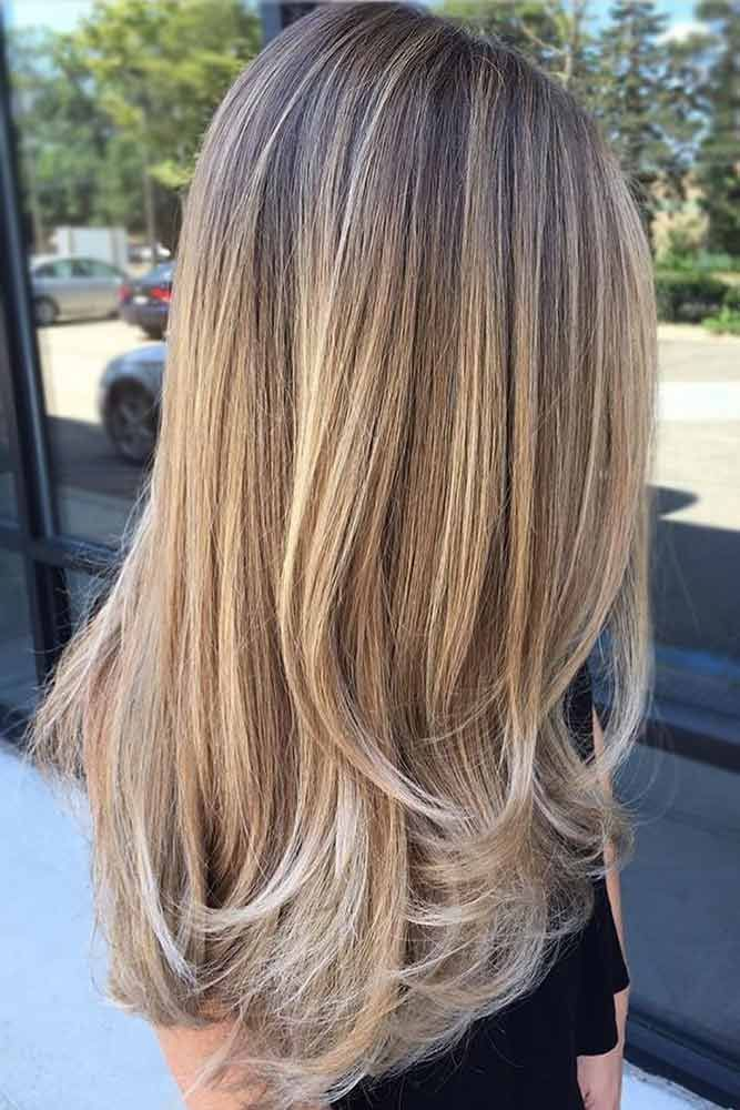 Dirty Blonde Long Sleek Layered Hair