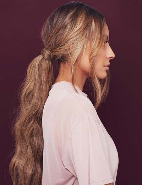 Low Ponytail with Beachy Waves