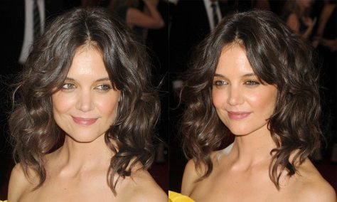Middle Parted Brunette Wavy Hair