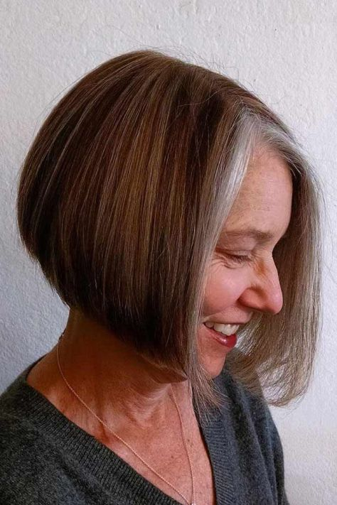 Middle Parted Straight Bob
