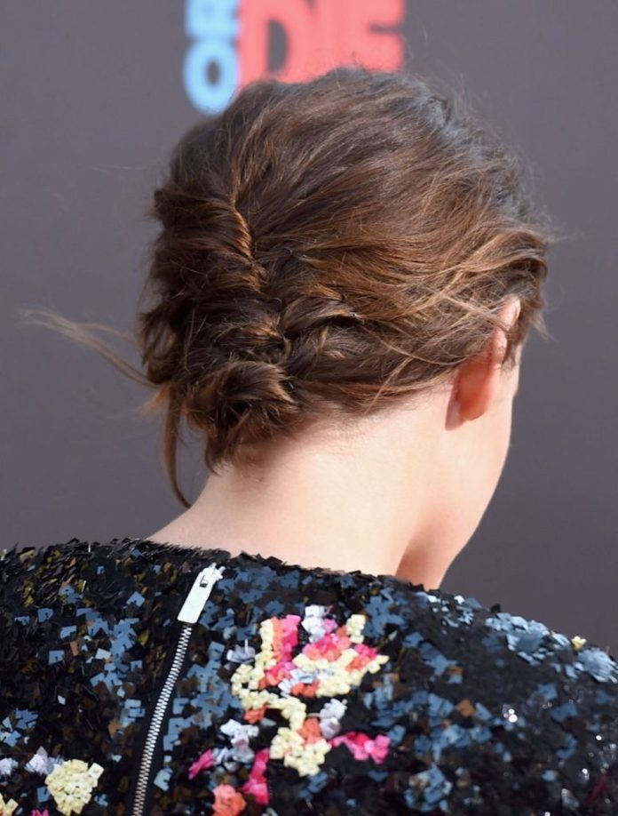 Inverted French Twisted Updo