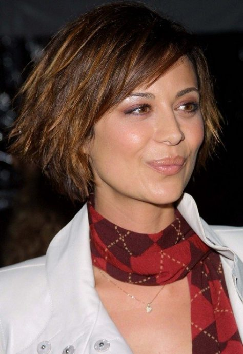 Funky Edgy Layered Bob
