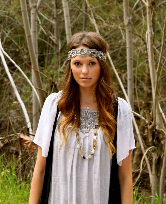 Bohemian Hairstyle with Headband