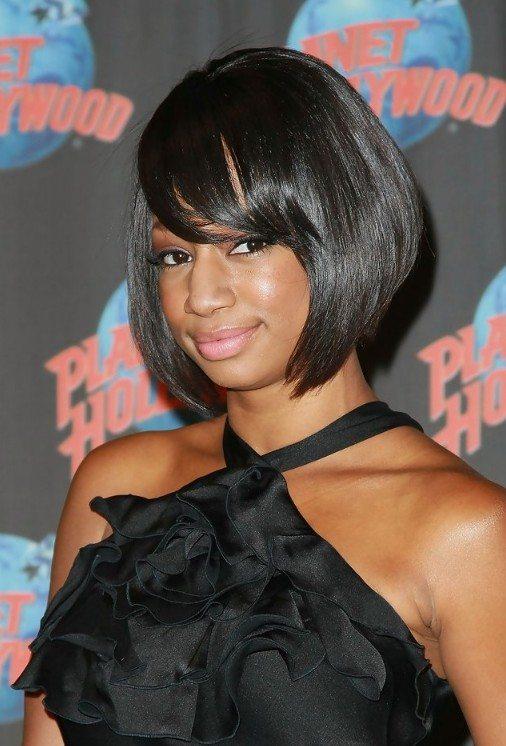African American Short Sleek Bob Haircut
