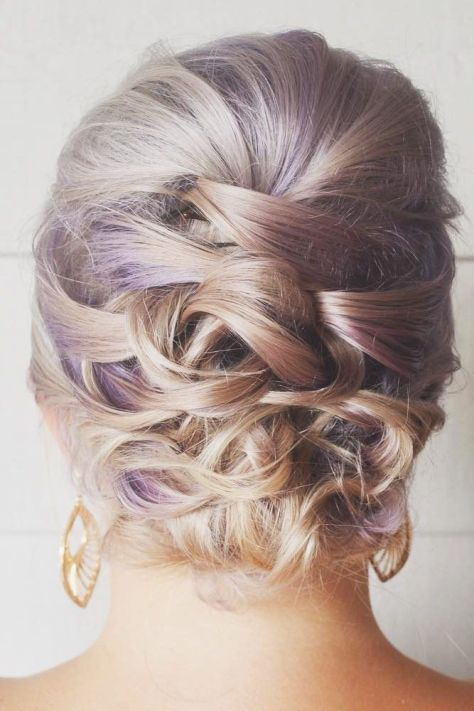 Dual Toned Twisted Updo for Short Hair