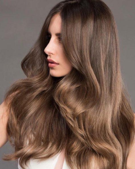Long Voluminous Light Brown Hair