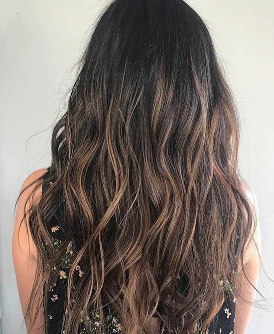 Dark Caramel Balayage Ombre Hair