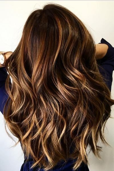 Layered Wavy Long Balayage Hairstyle