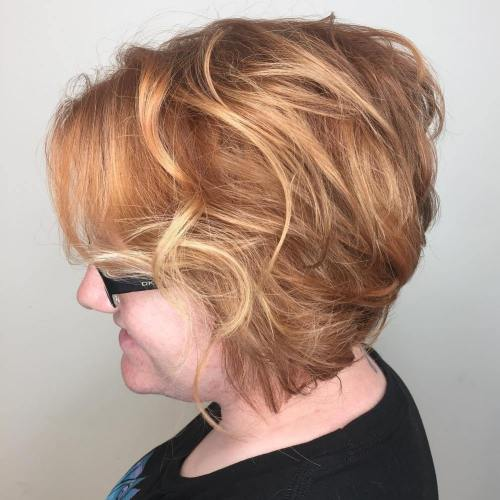Messy Blonde Stacked Bob