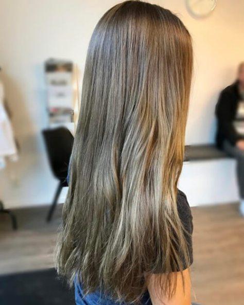 Natural Light Brown Straight Hair
