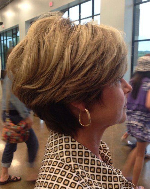 Tapered Blonde Bob Haircut