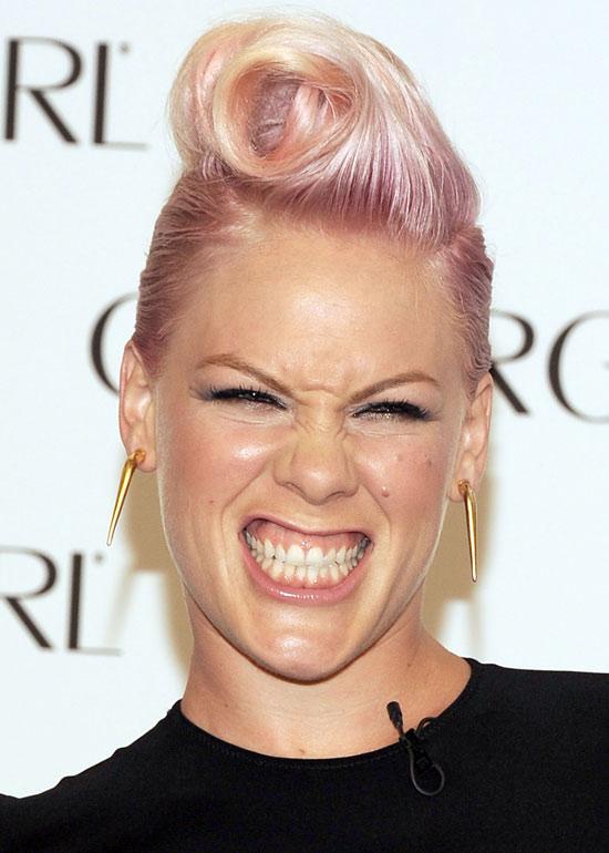 Light Pink Funky Short Hair
