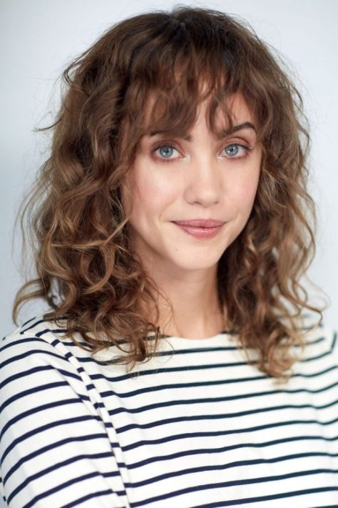 Curly Medium Hair With Bangs
