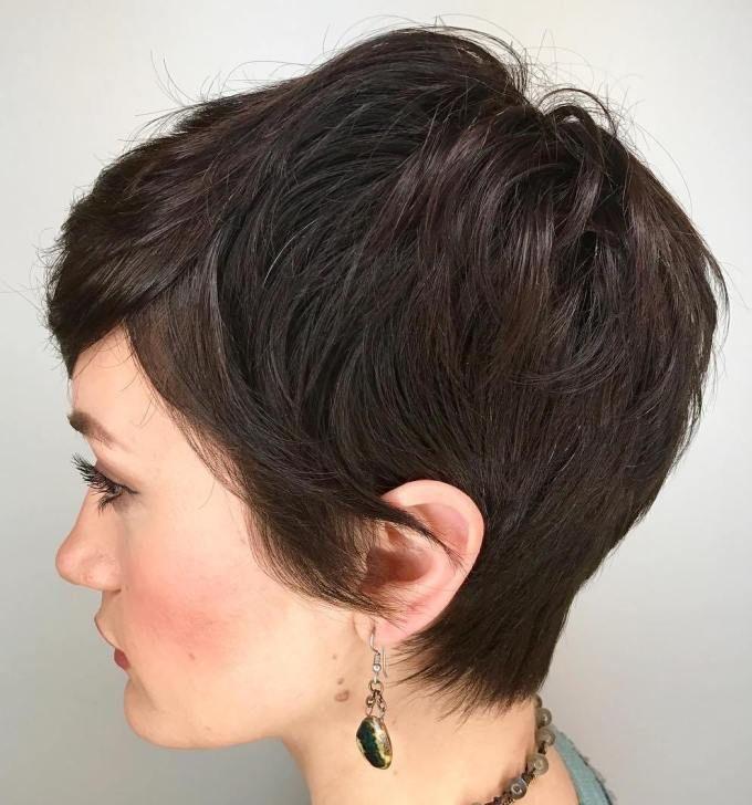 Brunette Pixie Haircut