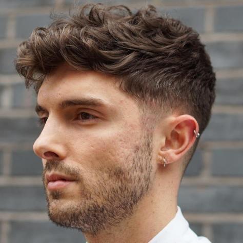 Taper Haircut Wavy Hair