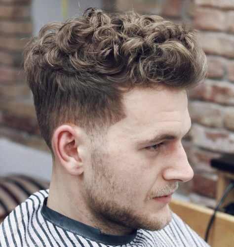 Messy Curly Hairstyle for Men