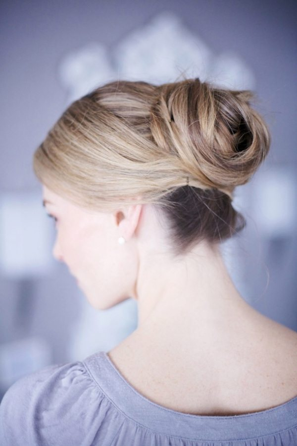Homecoming Hairstyle with Wrapped Bun