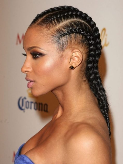 Cornrow Hairstyle for Medium Length Hair