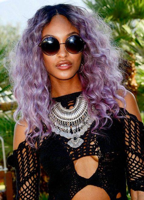 Lavender Curly Hair