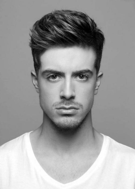 Men's Thick Haircut for Square Faces