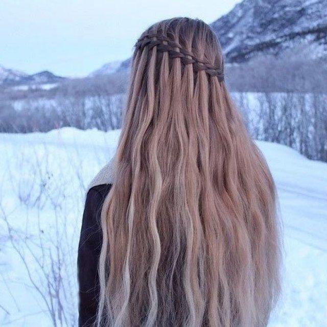 Mermaid Hair with Double Waterfall Braids