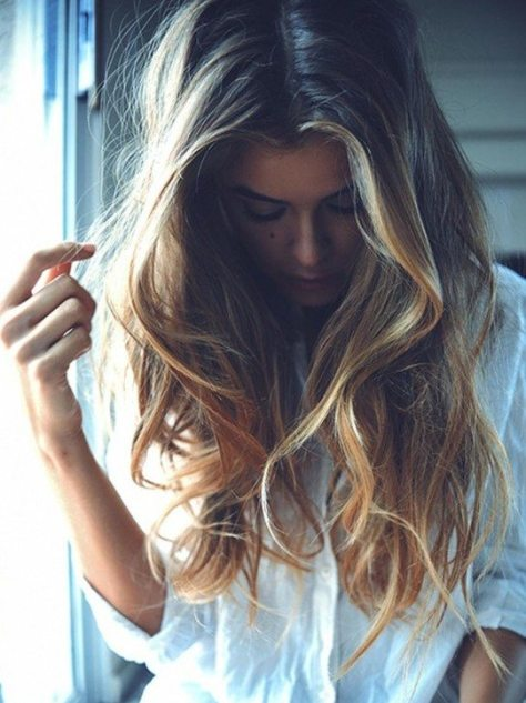 Ombre Long Hairstyle for Girls