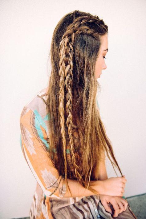 Boho Hairstyle for Long Hair