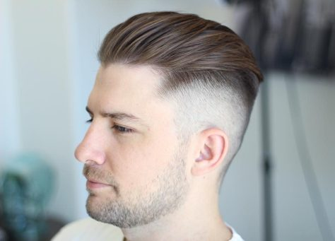 Comb Over Hair with Undercut
