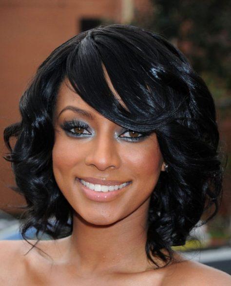 Medium Black Hairstyle with Curls