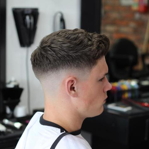 Skin Fade with Textured Wavy Hair