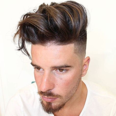 High Fade Long Textured Hair