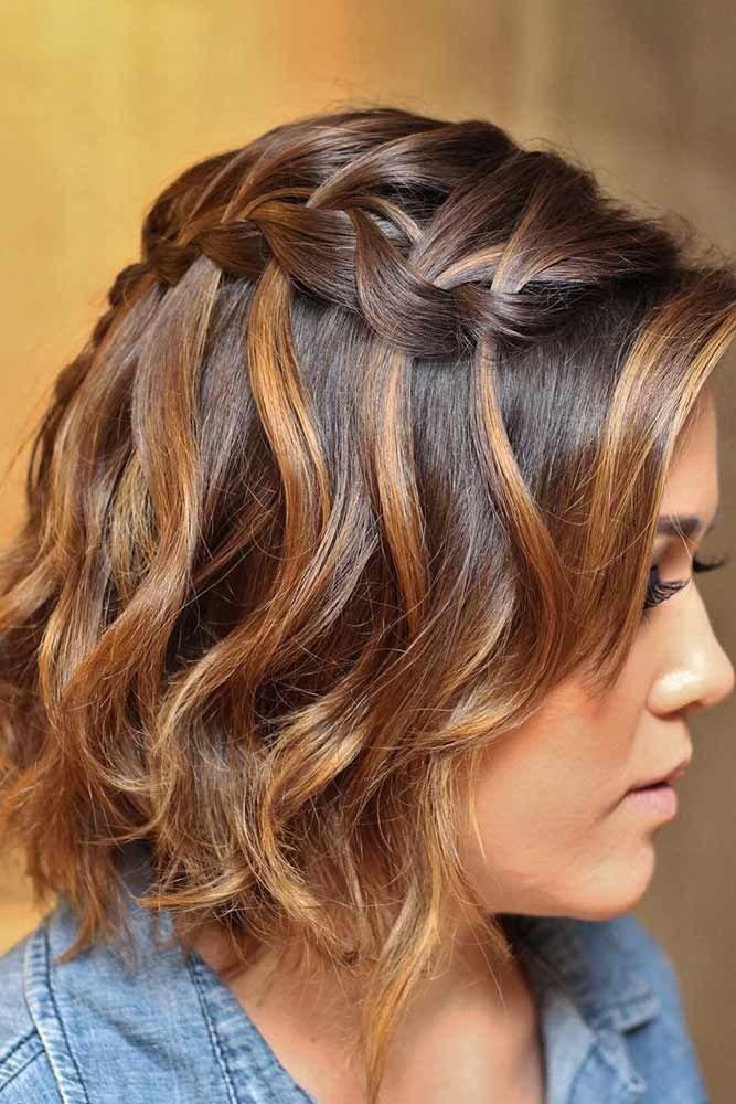 Side Waterfall Braid for Short Hair