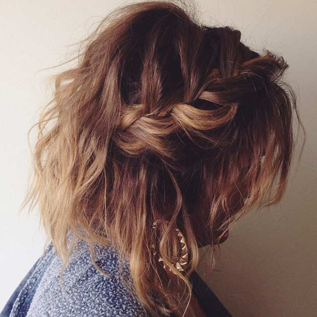 Loose and Messy Braided Hairstyle