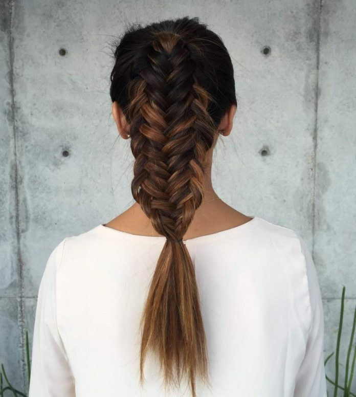 Fishtail Ponytail Hairstyle