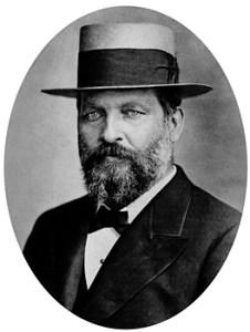 President James Garfield wearing a fancy hat