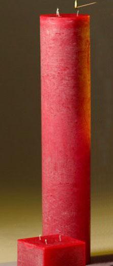 Свеча напольная большая интерьерная белая, красная купить ...