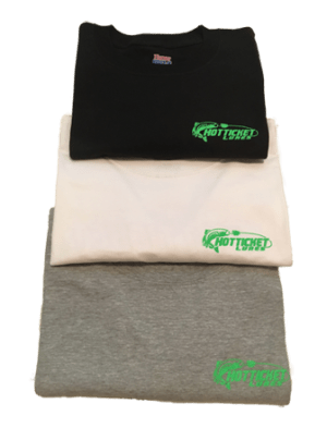 Hot Ticket Lures T-Shirt with logo in pocket area