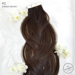 Virgin-Tape-In-Hair-Extensions-Darkest-Brown-2-Braid-Flowers.fw