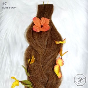 Virgin-Tape-In-Hair-Extensions-Light-Brown-7-Braid-Flowers.fw