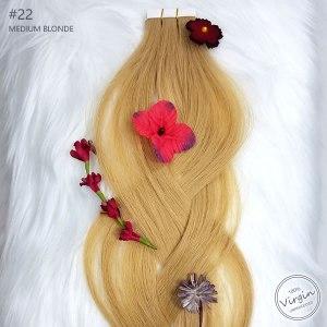 Virgin-Tape-In-Hair-Extensions-Medium-Blonde-22-Braid-Flowers.fw