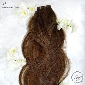 Virgin-Tape-In-Hair-Extensions-Medium-Brown-5-Braid-Flowers.fw