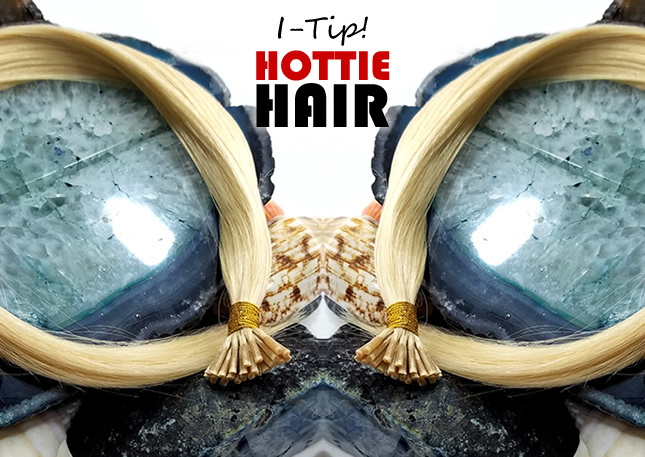 Display of I-Tip Hair Extensions Las Vegas at Hottie Hair Salon & Extensions Hair Store Las Vegas